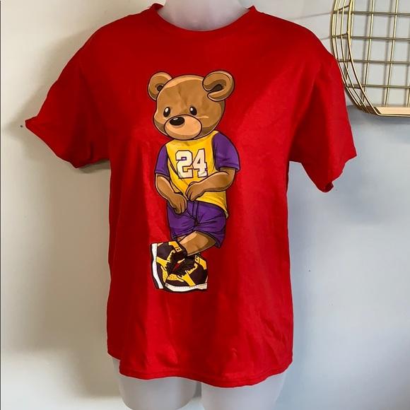 Teddy Bear wearing Kobe jersey Size M